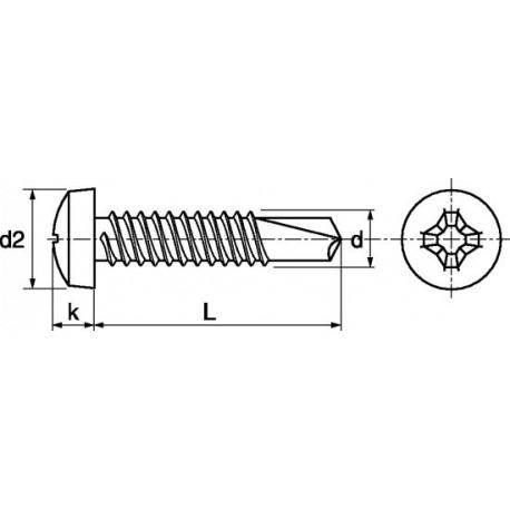 Parafuso auto-roscante aço - DIN 7504N