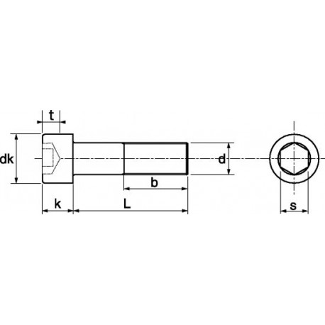 Parafuso cabeça cilíndrica sext. int. (8,8 zincado) - DIN 912 - ISO 4762