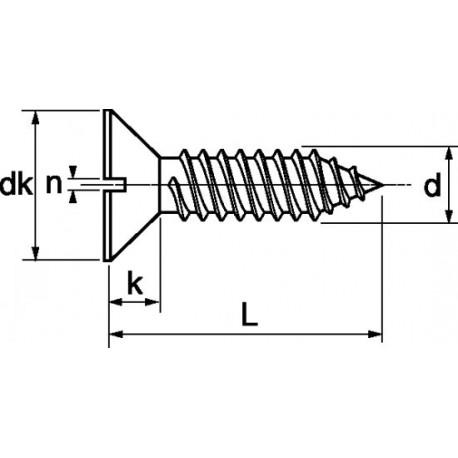 Parafuso auto-roscante A2 - DIN 7972 - ISO 1482