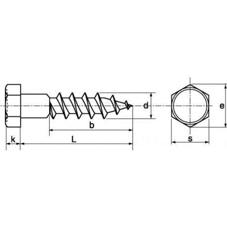 Parafuso TIREFOND (Zincado) - DIN 531
