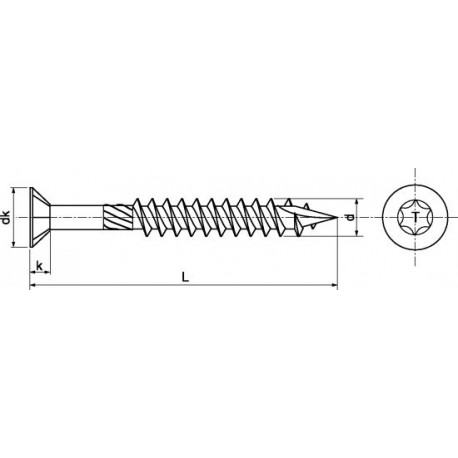 Parafuso cabeça chata p/deck  (Inox A2)