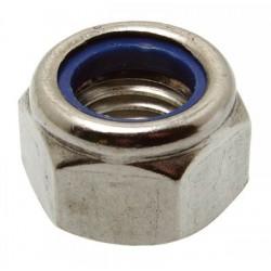 Porca autoblocante (Inox A2) - DIN 985 - ISO 7042