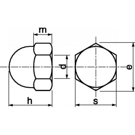 Porca mama (Inox A2) - DIN 1587