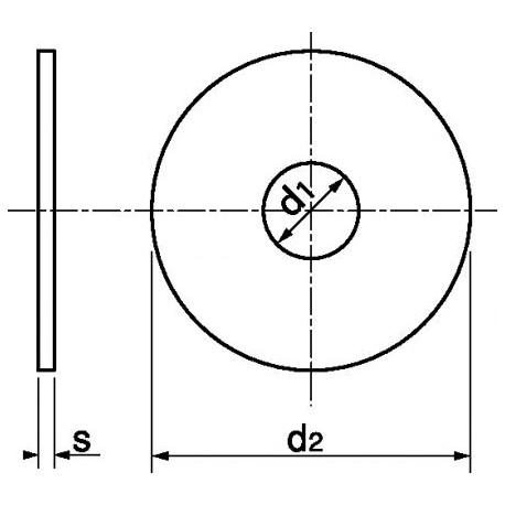 Anilha aba larga (Zincado) - DIN 9021 - ISO 7093