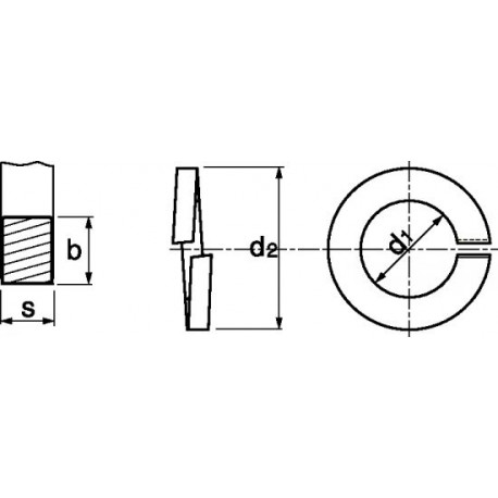 Anilha mola (Zincado) - DIN 127B