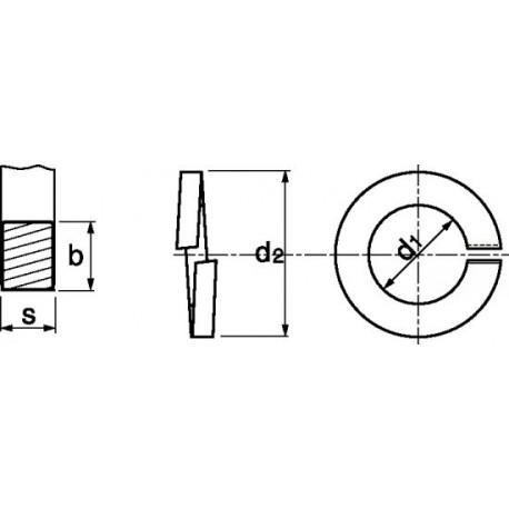 Anilha mola (Inox A4) - DIN 127B