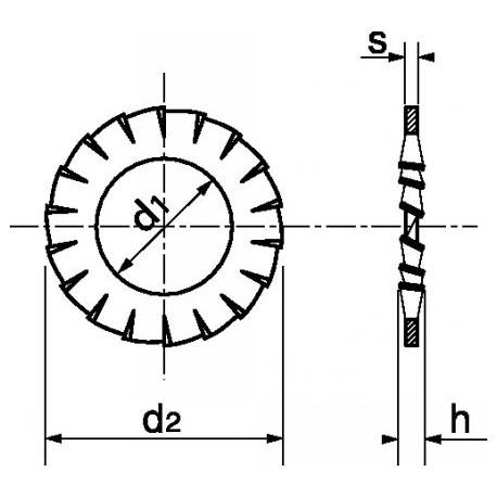 Anilha recartilhada (Zincado) - DIN 6798A