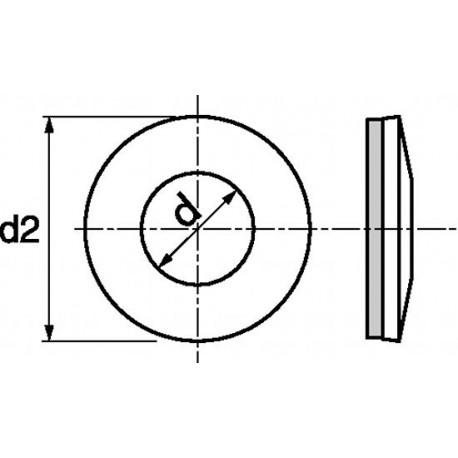 Anilha vulcanizada (Inox A2) - EPDM