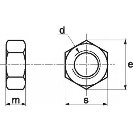 Porca sextavada (Nylon 6.6) - DIN 934