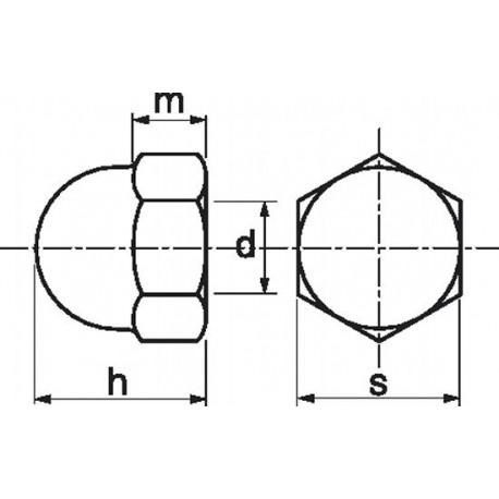 Porca mama (Nylon 6.6) - DIN 1587