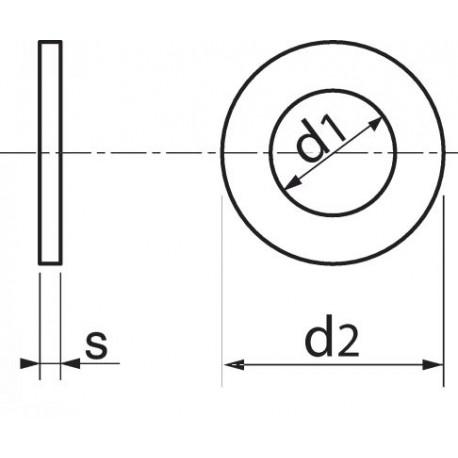 Anilha plana (Nylon 6.6) - DIN 125