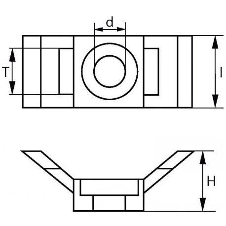 Suporte parede preto (Forma sela) - Preto