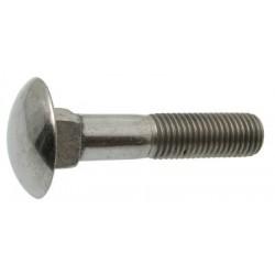 Parafuso cabeça oval e quadra aço zincado 4,8 - DIN 603 - ISO 8677