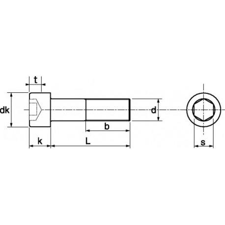 Parafuso cabeça cilíndrica aço zincado 8,8 - DIN 912 - ISO 4762