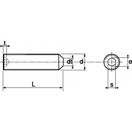 Pernos roscados aço A2 - DIN 914 - ISO 4027