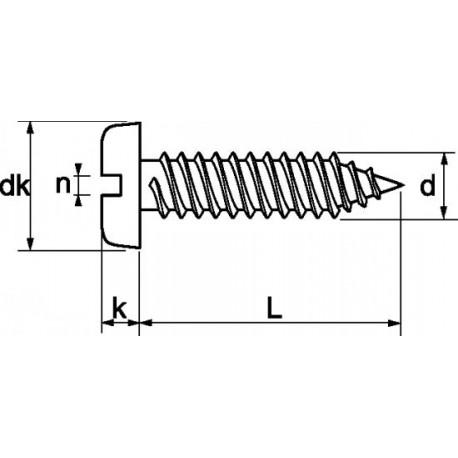 Parafuso auto-roscante aço - DIN 7971 - ISO 1481