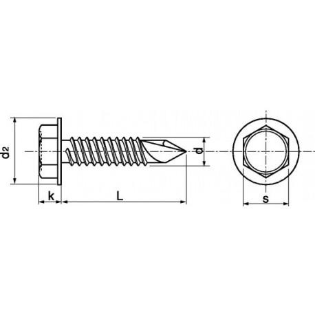 Parafuso auto-roscante aço - DIN 7504K